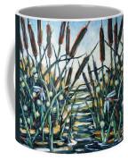 Fire And Dragonflies Coffee Mug