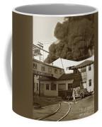 Fire At Cannery Row, Custom House Packing Company Sea Beach Cannery 1953 Coffee Mug