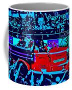 Fire Engine Red In Blue Coffee Mug