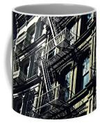 Fire Escape On Franklin Street 2 Coffee Mug