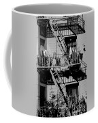 Fire Escape With Clothes Hung To Dry Coffee Mug