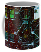 Fire Escapes In The Snow Coffee Mug