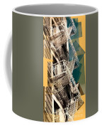 Fire Escapes In White And Gold Coffee Mug