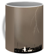 Fire Rescue Station 67  Lightning Thunderstorm 2c Bw Sepia Coffee Mug