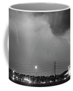 Fire Rescue Station 67  Lightning Thunderstorm Black And White Coffee Mug