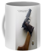 Firearms 1917 Colt Model 1911 Semi Auto 45cal With Shoulder Stock Coffee Mug
