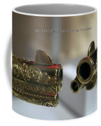 Firearms Pair Of Gold Colt Single Action Army 45cal Revolvers Coffee Mug