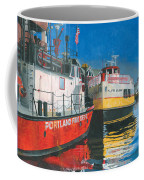 Fireboat And Ferries Coffee Mug by Dominic White