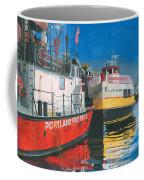 Fireboat And Ferries Coffee Mug