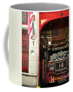 Firefighters Of New York - Engine Sweet 14 - Closeup Coffee Mug