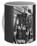 Fireman - Saftey Jacket Black And White Coffee Mug