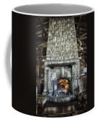 Fireplace At The Lodge Vertical Coffee Mug