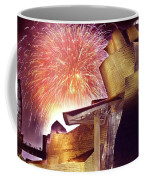 Fireworks At Guggenheim Coffee Mug