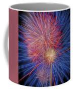 Fireworks Celebration Glow Square Coffee Mug
