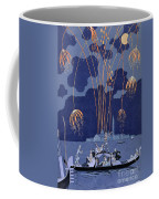Fireworks In Venice Coffee Mug by Georges Barbier
