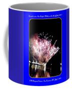 fireworks over San Rafael lake Coffee Mug