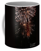 Fireworks With Flag Coffee Mug