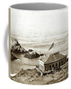 First Cliff House  View Of Ropes From The Cliff House To Seal Rock Circa 1865 Coffee Mug