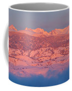 First Light Colorado Rocky Mountains Panorama Coffee Mug