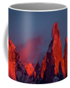 First Light On Cerro Torre - Patagonia Coffee Mug