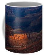 First Light Over Yavapai Point  Grand Canyon Coffee Mug