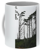 First Line Trees Along The Pacific Ocean Coffee Mug