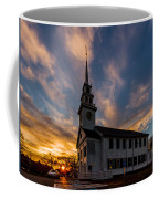 First Parish Church In Milton Massachusetts Sunset Coffee Mug