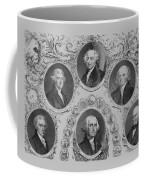 First Six U.s. Presidents Coffee Mug by War Is Hell Store