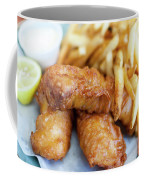 Fish And Chips On A Plate Coffee Mug
