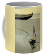Fish Boat And Anchor On Low Tide  Coffee Mug