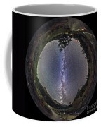 Fish-eye Panorama Of Milky Way Over Red Coffee Mug