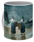 Fisher Girls By The Sea Coffee Mug by Winslow Homer