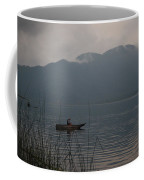 Fisherman Baiting Line Lake Atitlan Guatemala Coffee Mug