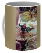 Fisherman By Stream Coffee Mug