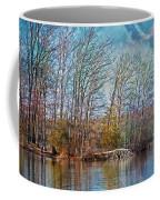 Fisherman On Burke Lake Coffee Mug