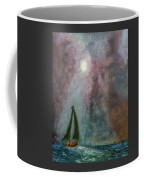 Fisherman Under Full Moon Coffee Mug