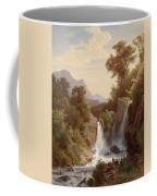 Fishermen By The Waterfall Coffee Mug