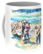 Fishermen In Praia De Mira Coffee Mug