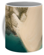 Fishermen On A Sand Bank On An Island Coffee Mug