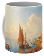 Fishermen On The Dalmatian Coast Coffee Mug