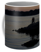 Fishermen Silhouetted By The Sunset Coffee Mug