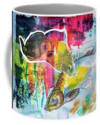 Fishes In Water, Original Painting Coffee Mug