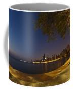 Fisheye Chicago Skyline At Dawn Coffee Mug