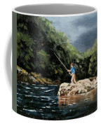 Fishing At  The Crack Of Dawn Coffee Mug