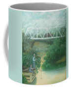 Fishing At The Pump House On White Oak Creek Coffee Mug