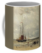 Fishing Barges At Low Tide Coffee Mug