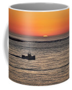 Fishing Boat At Sunrise. Coffee Mug
