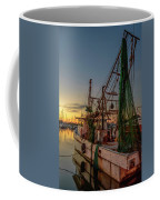Fishing Boat At Sunset Coffee Mug