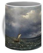 Fishing Boat At The Sea Coffee Mug