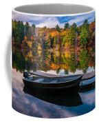 Fishing Boat On Mirror Lake Coffee Mug